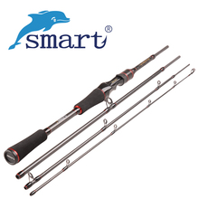 Smart 1.98m Lure Rod 4 Section 99% Carbon Casting Fishing Rod M Power Travel Casting Rod Fishing Vara De Pesca Lure Weight 6-24 abu garcia 1 98m casting fishing rod 2 section m power carbon fiber line lure fishing rod pole weight 8 12lb vara de pesca rod