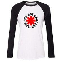 Fashion red hot chili peppers rock band t shirt women dc superhero t-shirt long sleeve tshirt girl  holiday tee tops plus size l