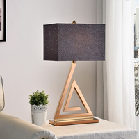 Triangle Gold Modern Stainless Steel Led Table Lamps For Bedroom Living Room Bedside Metal Desk Lamp Luminarias Decorative Lamp