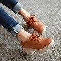 Grande Tamanho 11 12 sapatos edição PumpsHan feminino outono coringa inverno estudantes harajuku slip-on sapatos de estudantes do sexo feminino das mulheres sapatos