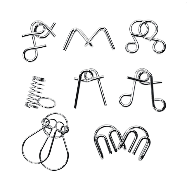 Metal Puzzle Wire IQ Puzzles For Children