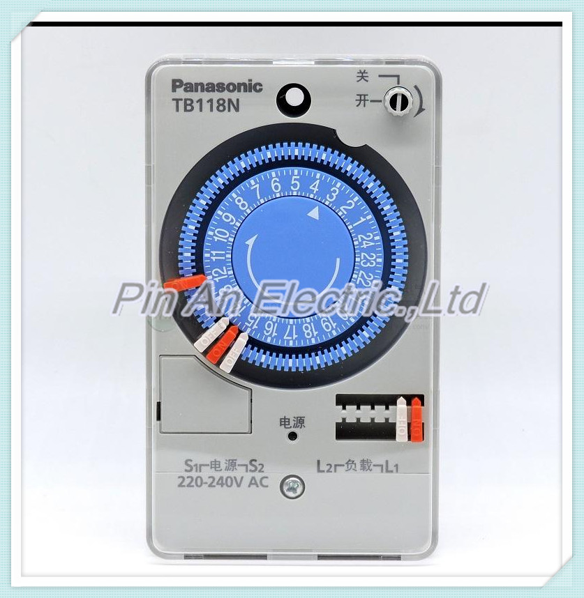 The timer TB118 time controller mechanical switch on the clock
