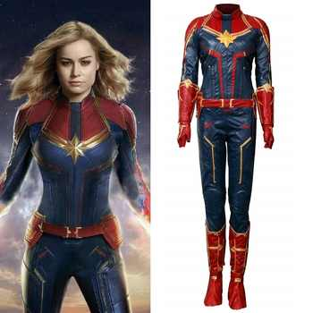 Takerlama Captain Marvel Cosplay Costume Carol Danvers 2019 Superhero Cosplay Ms. Marvel Jumpsuit Halloween Party Uniform Suits - DISCOUNT ITEM  30% OFF All Category