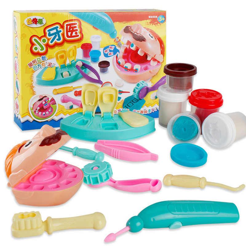 Детские игрушки 2019, детский косплей, стоматологи, креативный сделай сам, пластилин, пластилин, обучающая, сделай сам, зубная игрушка, лучший подарок на день рождения, Набор доктора