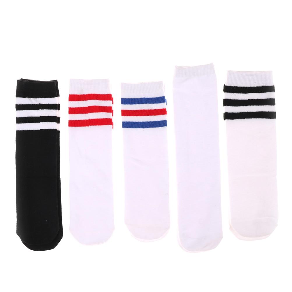 28CM Kids Girls Boys Cotton Knee High Warm Socks For Old School Children Baby Long Tube Leg Football Stripes Socks