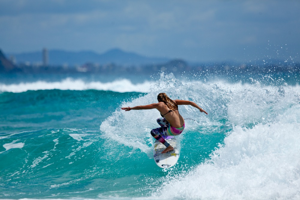 Free Shipping,surfing,sports Surfer,ocean,girl,Poster HD