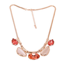 N400721 Luxurious Elegant crystal Necklace Zinc Alloy 18K Rose Gold Rhodium Plated With Austria Crystal Fashion Women Jewelry