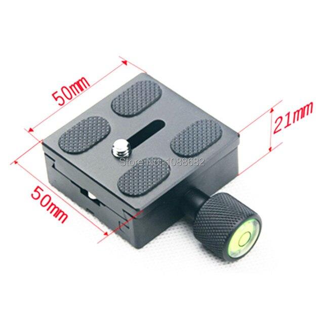 Штатив Моноподы Quick Release Plate Адаптер 50 х 50 мм 1/4 QR Зажим для Штатива Шаровой Головкой Arca Swiss РРП K50