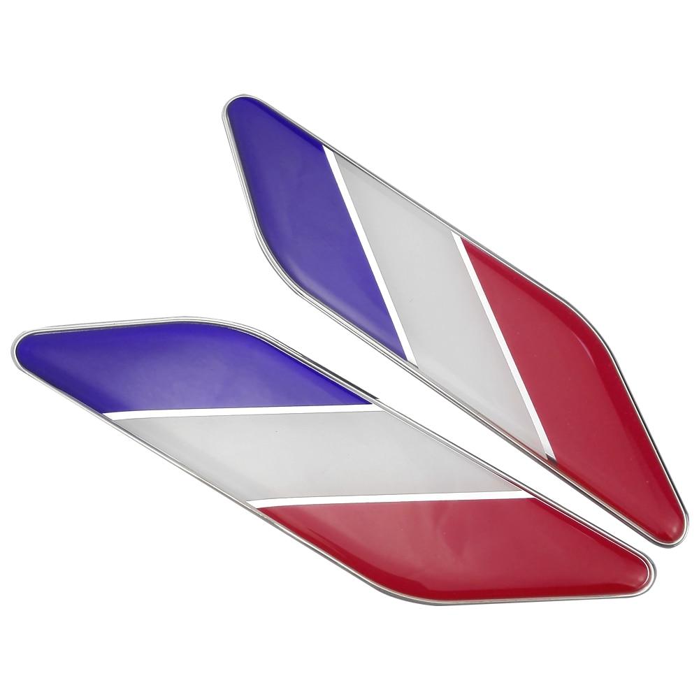 3d Auto Aufkleber Abzeichen Embleme Für Renault Clio Peugeot 208 308 3008 Citroen C3 Dacia Duster Mini Cooper Smart Frankreich Flagge Aufkleber