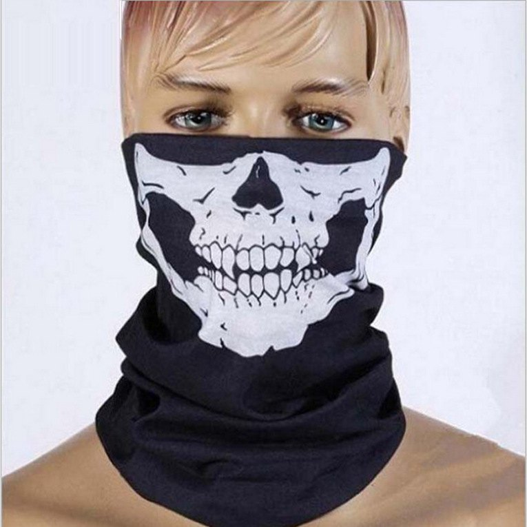 New Motorcycle Halloween Balaclava Skull Face Warm Outdoor Sports Caps Cycling Mask Winter Scarf Beanies Magic Christmas Props
