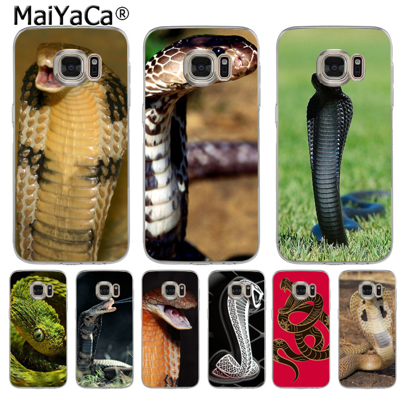 MaiYaCa Animal Snake Cobra  Top Detailed Popular Case for Samsung S5 S6 S7 Edge S8 Plus S6 Edge Plus S3 S4