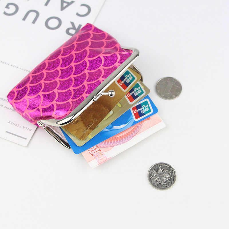 Новая мода блестка Для женщин девушки мини кошелек пайетки портмона Для детей Русалка мешок денег дамы держателя карты K048