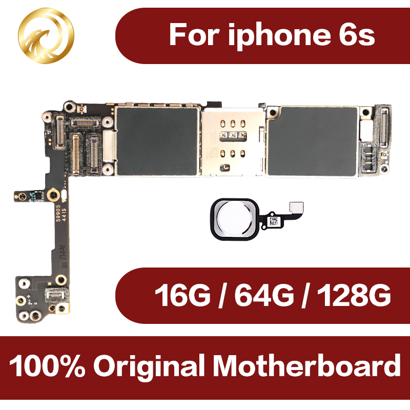 16g/64g/128g For iPhone 6s Motherboard With Touch ID 100% Original Unlocked Logic Boards For iPhone 6s Mainboard 4.7 inch