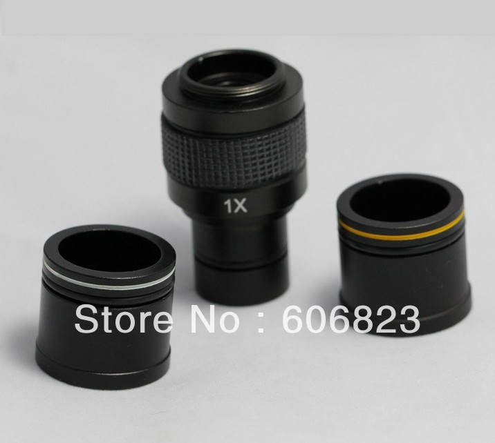 New Microscope 1X C-mount adapter 4 CCD Camera Digital with 2 Eyepiece adapters 23.2mm 30mm 30.5mm tube 4pcs rc crawler truck 1 9 inch rubber tires