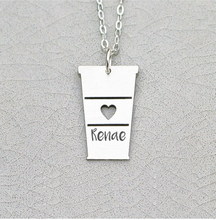 купить 2018 New Personalized Coffee Necklace Love Coffee Cup Latte Gift Aliexpress Top-selling Accept Drop Shipping  YP6384 дешево