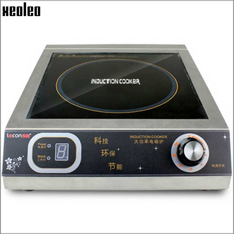 Xeoleo Commercial Induction   3500W  Stainless steel Induction cookers with timing  for hotpot/soup stewing/stir-fly xeoleo commercial induction 3500w stainless steel induction cookers with timing for hotpot soup stewing stir fly