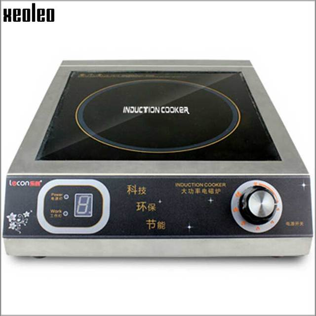 Xeoleo Commercial Induction 3500W Stainless Steel Induction Cookers With  Timing For Hotpot/soup Stewing/