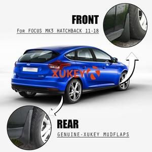Image 4 - Für Ford Focus 3 MK3 Fließheck 2011   2018 set Schlamm Klappen Kotflügel Schmutzfänger Splash Guards 2016 2017 2015 2014 2013 2012