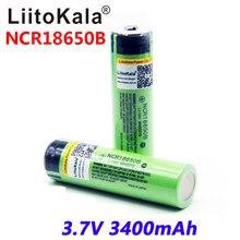 100% Оригинальные аккумуляторы LiitoKala 3,7 в для NCR 18650B 3400 3400 мАч, перезаряжаемый аккумулятор для фонарика (SEM PCB)