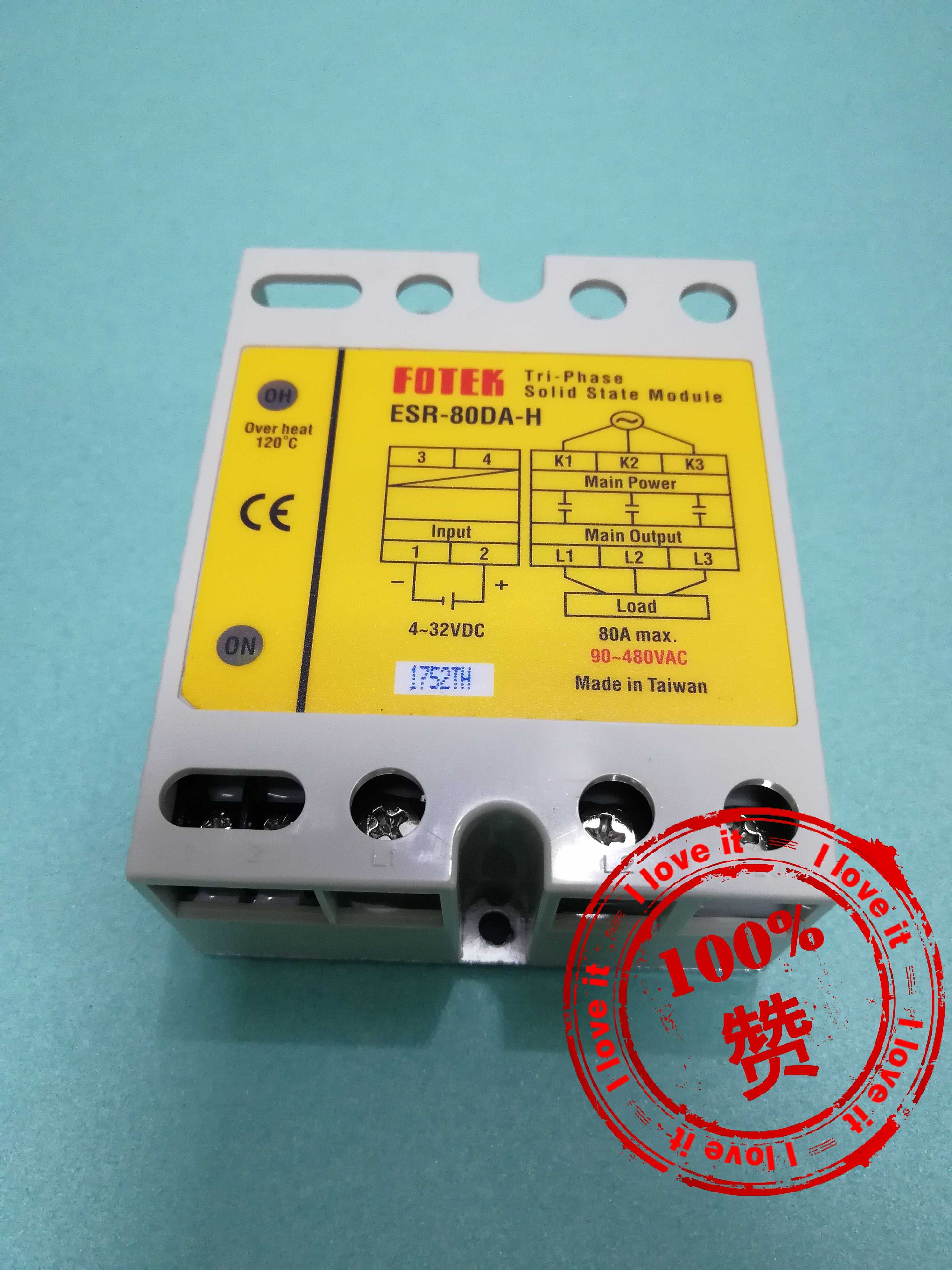 New Original High-power Three-phase Solid-state Relay ESR-80DA-H Withstand Voltage