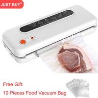 10 PCS Gift free automatic vacuum food bag sealer sealing Commercial Vacuum Food Sealing vacuum packing machine for food