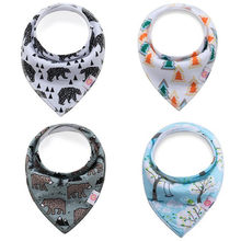 2019 Newborn Baby Bibs Cotton Toddler Girls Boys Triangle Bibs Burp Cloths Feeding Bibs Baberos Saliva Towel Infant Bibs(China)