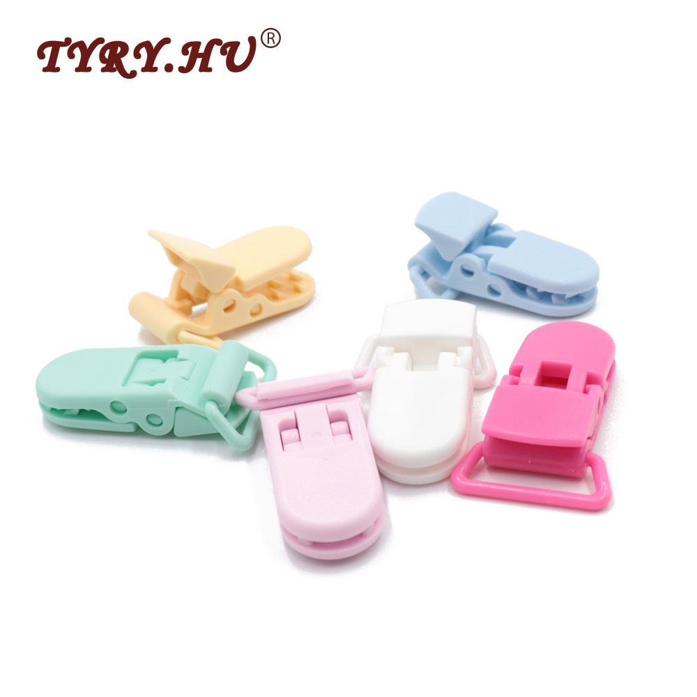 TYRY.HU 50Pcs Flat Pacifier Clip Holder Baby Dummy Soother Suspender Toddler DIY Pacifier Chain Accessories Infants Dummy Clips