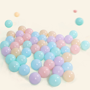 Image 3 - 50/100 Pcs palla colorata ecologica in plastica morbida palla oceano divertente bambino bambino nuoto Pit giocattolo piscina dacqua Ocean Wave Ball diametro 5.5cm