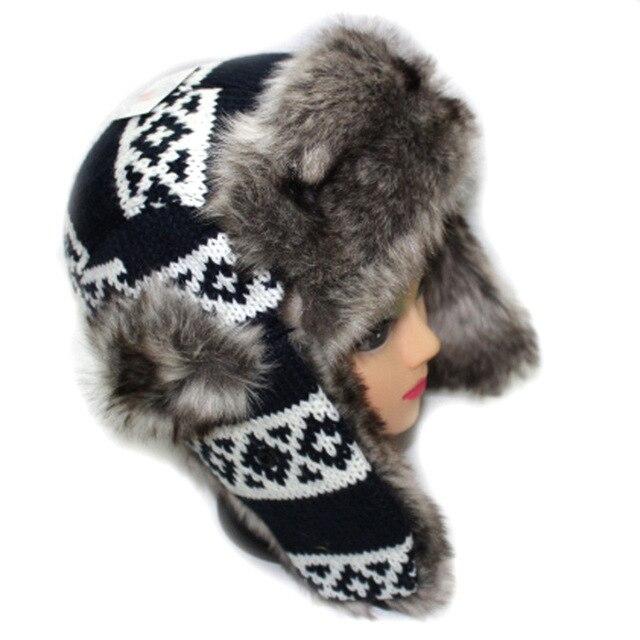 New Fur Warm Winter Hats For Women   Men Outdoor Sport Bomber Caps Mask  Beanie Bone Aba Reta Casquette Swag Panda Canada Touca 7de43089ab6