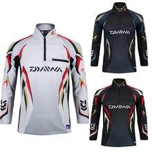 M-3XL теплый DAIWA dawa, рыболовство Костюмы Для мужчин Одежда дышащая защита от солнца УФ Открытый спортивной костюм Рыбалка рубашка