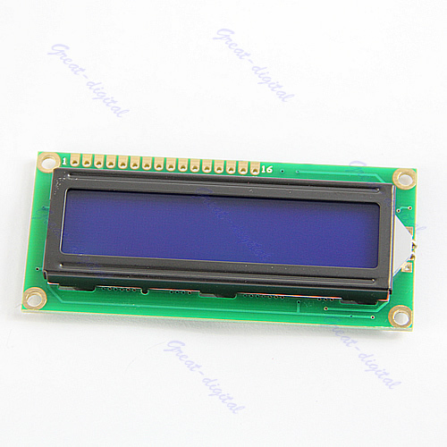 LCM 1602 16x2 HD44780 Controller Blue Blacklight Character LCD Module Display