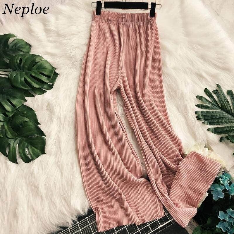 Женские свободные брюки Neploe повседневные плиссированные длинные с высокой