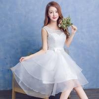 2017 הגעה לניו קצרה dress לבן לנשים קצר שפתוחה לנשף ארוך בחזרה אפור אור קשת חוט עבור מסיבת סיום אלגנטי פורמליות