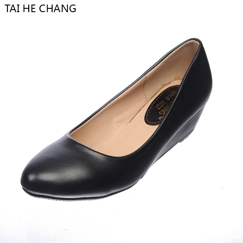 5180-1 2017 Women High Heel Pumps Black wedges Pumps Round Toe Pump Sexy Footwear Wedding heels Autumn Spring Shoes Woman siketu 2017 free shipping spring and autumn women shoes fashion sex high heels shoes red wedding shoes pumps g107