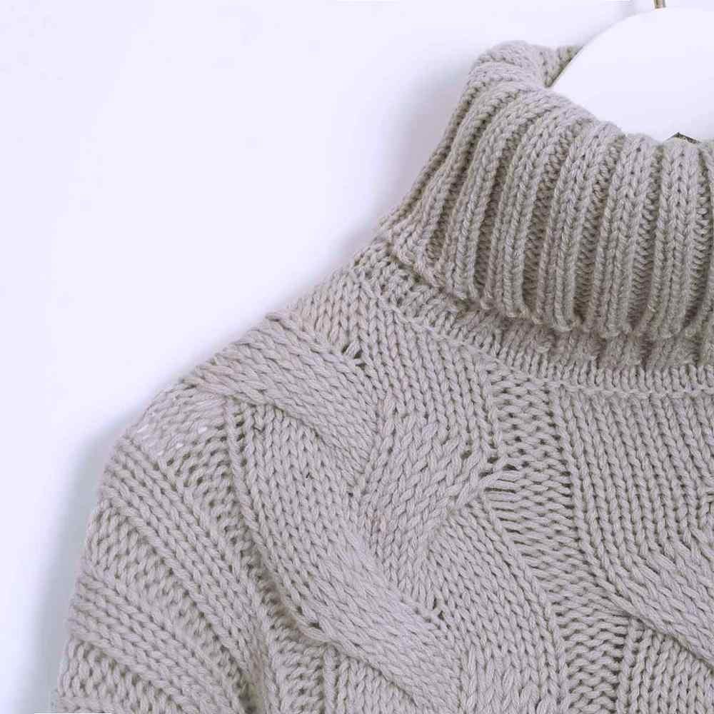 Свитера Wixra Твердые оверсайз теплые водолазки Повседневная женская вязаный свитер с длинным рукавом Пуловеры женские джемперы 2019 осень зима с высокий ворот вязка база тренд ажурная кофточка кофта кэжуал стильный