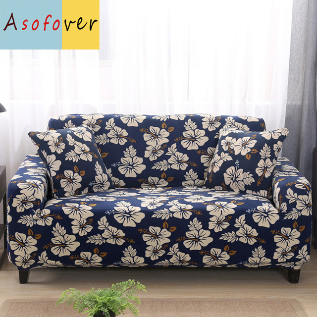 Vintage Pattern Sofa Cover Elastic Slipcover Cubre Stretch Furniture Covers Protector For