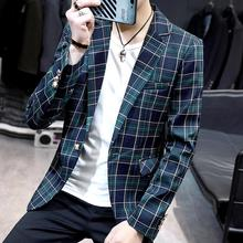 Plaid Blazer Men Slim fit Mens Blazers and Suit Jackets Wedding Suits for Red Green