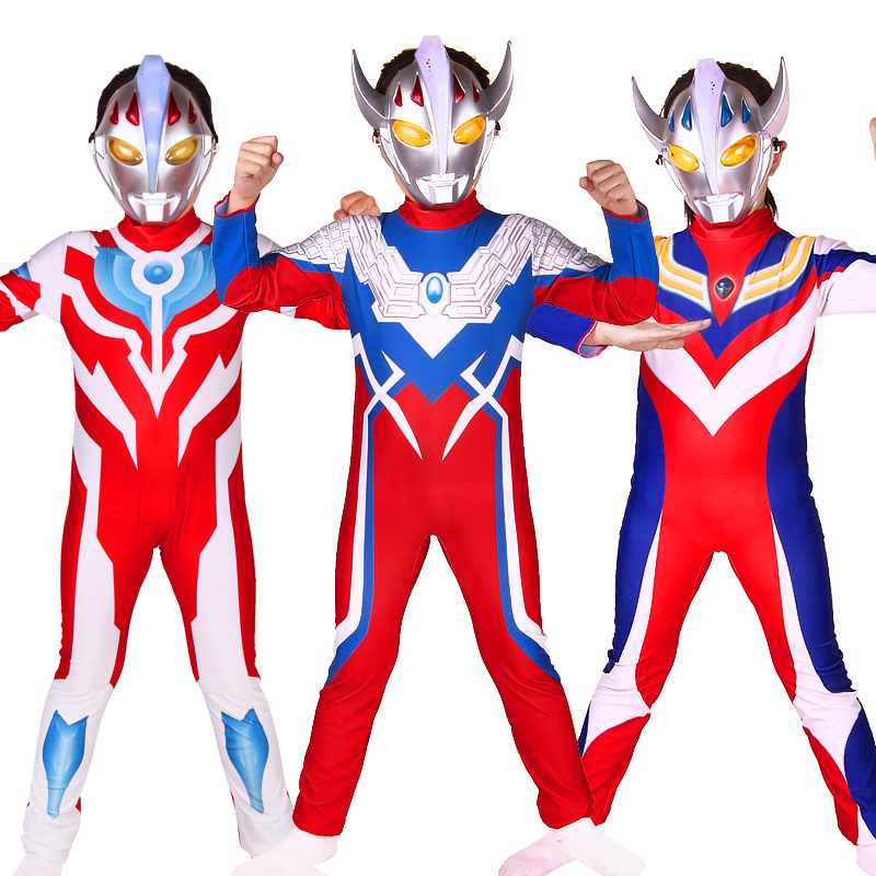 Free shipping Carnival party Holiday Boys Girl Tights altman Cosplay Costume Ultraman Avengers dress up for Children Kids