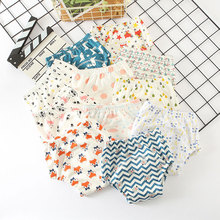 6-слойное бальное платье Baby многоразовый Подгузники утепленные детские тренировочные брюки с ромбовидным узором для младенцев трусы моющиеся детские штанишки для малышей, шорты