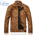 2016 new leather jacket men Slim Short Collar Jaqueta COURO bomber leather coat suede motorcycle jacket M-XXXL