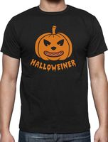 Halloweiner Funny Jack O Lantern Hot Dog Halloween T Shirt Pumpkin Face