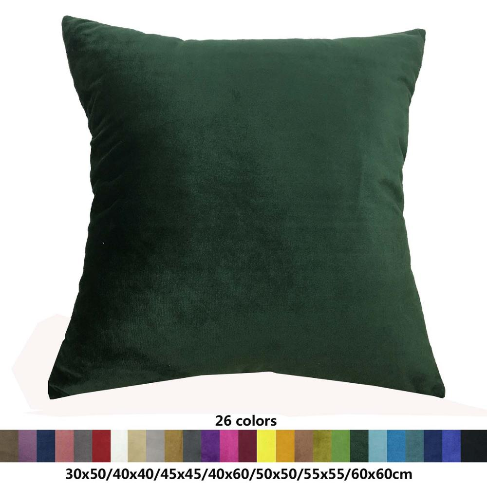 Super soft velvet sofa cushion cover 30x50/40x40/45x45/40x60/<font><b>50x50</b></font>/55x55/60x60cm decorative throw <font><b>pillow</b></font> <font><b>case</b></font> <font><b>pillow</b></font> cover image
