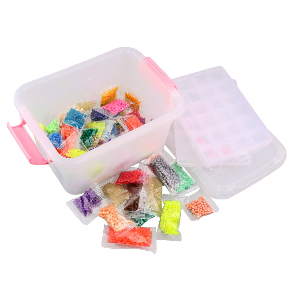 8400PCS 30Colors 3D DIY Fuse Beads Puzzle Hama Beads Pegboard Perler Sticky Beads Jigsaw Kids Crafting Educational Toys