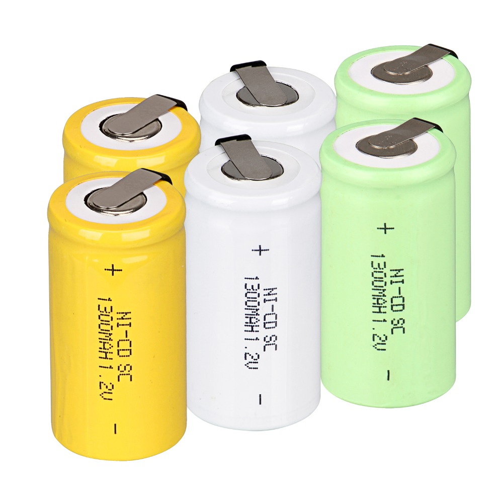 14 Pcs Sub C Subc Battery Ni Cd Battery Nicd Battery 1300 Mah Rechargeable Battery 1 2v With Tab - Batterie C
