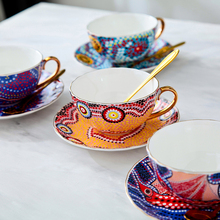 Ceramic Coffee Cup Sets High-Grade Bone China and Saucer European style Afternoon Tea ceramic cup Free Shipping