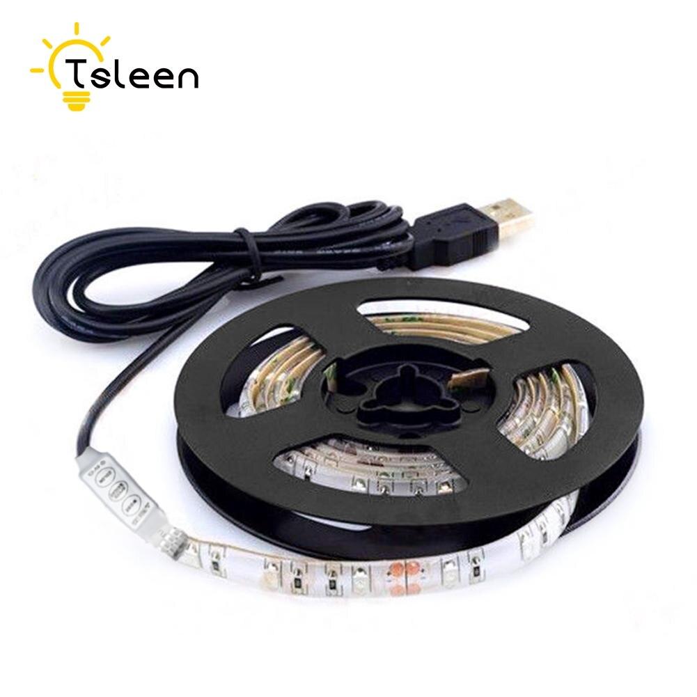 Cheap USB Power IP65 led strip waterproof fita de led 5050 3528 Fiexible Light DC 5V RGB LED Strip Light 1 2 5M TV Background