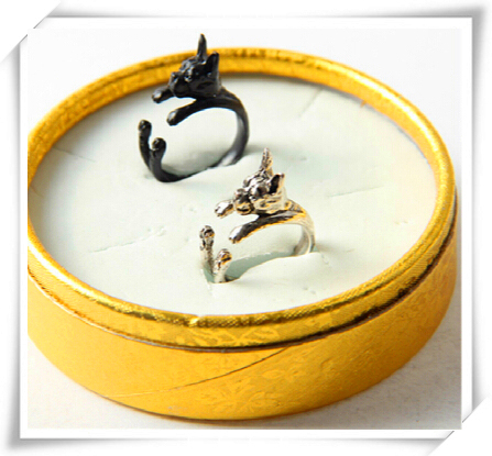 Фото кольцо в стиле ретро панк америку бостонский терьер кольцо подарок цена