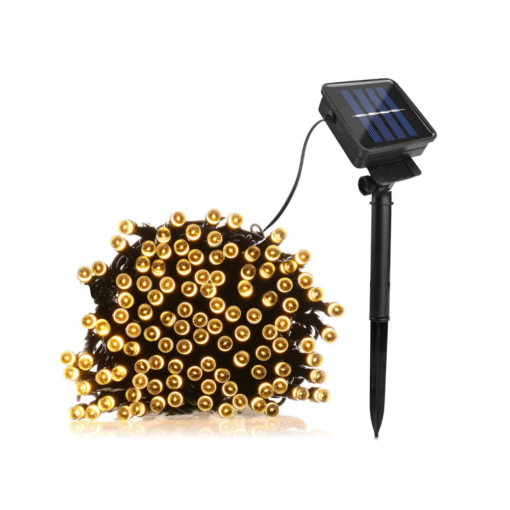 7M 50 LED / 12 100LED / 22M 200 LED Solar lamp String Fairy Landscape Light Outdoor Patio Garden Garland Wedding Party Christmas Стол