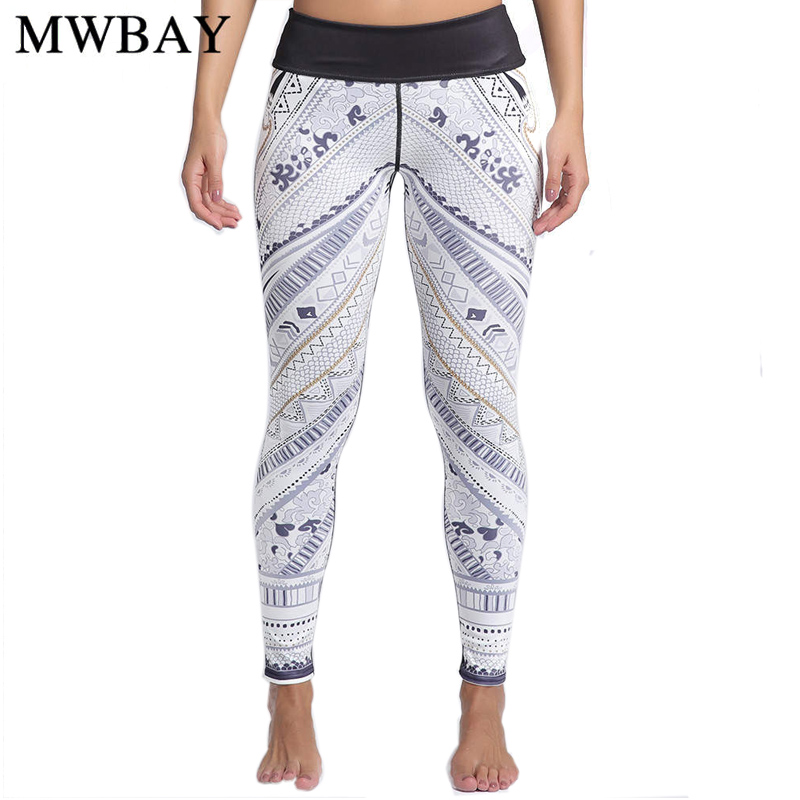 Mwbay 2017 mujeres Pantalones alta elástico Leggings para ...