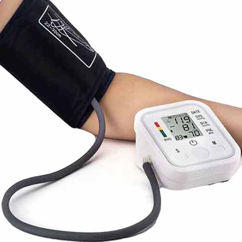 Automatyczne cyfrowe do ramię BP Monitor ciśnienia krwi bicie serca którego Pulse miernik tonometr ciśnieniomierze zegarowe pulsometr